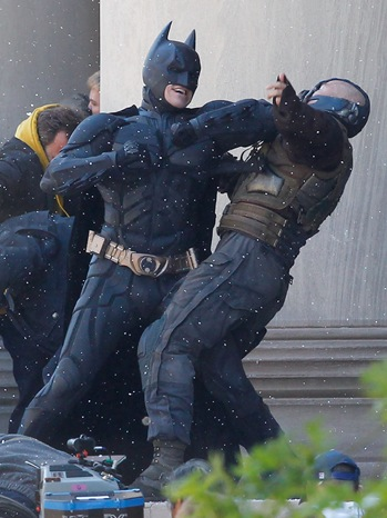 Batman and Bane fight