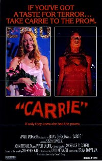 Poster from the original Carrie