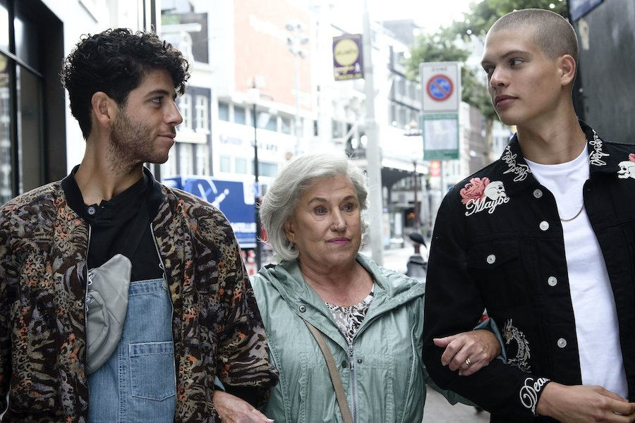 Just Friends Review - Yad, Grandma and Joris walk arm in arm