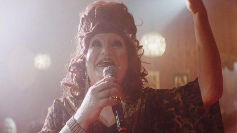 Tucked - Jackie on stage